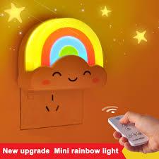 night light sound rainbow l light sound remote control baby night light lovely