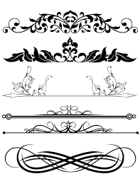design clipart design clipart mix frames scroll divider digital download clip