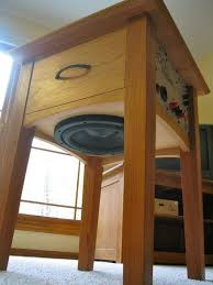 Wood Folding Table Plans Woodwork Projects Amp Tips For The Beginner Pinterest Gardens - speaker furniture for those who like to mix woodworking and