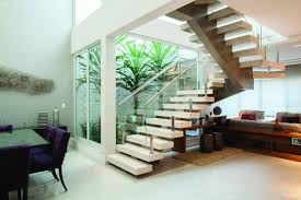 L Shaped Stairs Design Living Room Design With Stairs Plan Wooden Fence Staircase In