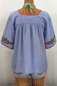 periwinkle blouse la marina embroidered peasant blouse periwinkle