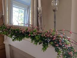 boxwood and pip berry garland pink pip berry garland boxwood