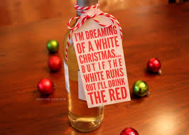 i m dreaming of a free christmas wine bottle gift tag printable