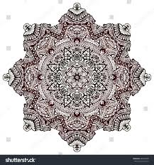 henna tattoo design mandala abstract folk stock illustration