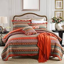 Indian Duvet Covers Uk Unimall Cotton Quilted Striped Double King Size Bedspreads Boho