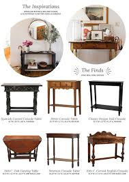 choosing a console table and mirror for an entryway making it lovely