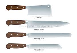 types of kitchen knives and their uses exle of kitchen knives the shape and size of kitchen knives