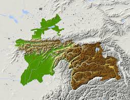 Relief Map Tajikistan Shaded Relief Map Colored According To Elevation