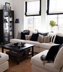 Black Modern Coffee Table Fancy Modern Coffee Table Design With Gingham Pillows On White