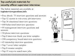 Security Guard Job Resume by Security Officer Supervisor Interview Questions