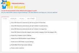 general settings of seo wizard