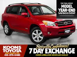 suv toyota used cars in westminster maryland koons westminster toyota