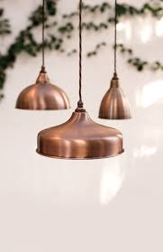 copper pendant light kitchen kitchen accessories modern triple copper globes pendant lamps