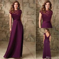 plum wedding dresses bateau neck cap sleeves backless floor length plum chiffon