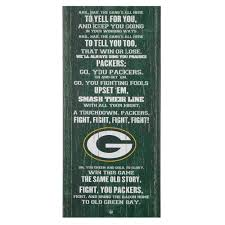 green bay packers fight song wall decor 26