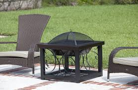 cocktail table fire pit fire sense cocktail steel wood burning fire pit reviews wayfair