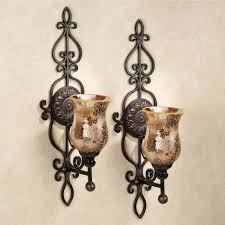 p177 wrought iron wall candle holders sconces candleholders and
