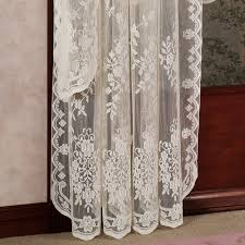 Antique French Lace Curtains by Fiona Scottish Lace Window Treatment
