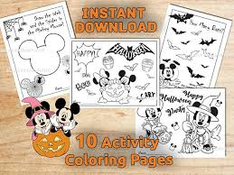 mickey u0026 minnie mouse halloween coloring pages activity