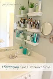 Sink Shelves Bathroom Organizing Small Bathroom Sinks Graceful Order