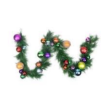 Pre Decorated Christmas Garland Purple Christmas Garlands You U0027ll Love Wayfair