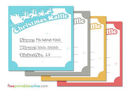 santa and his reindeer christmas raffle tickets free printables