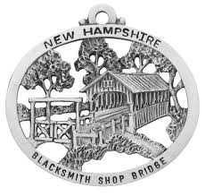blacksmith shop covered bridge ornament