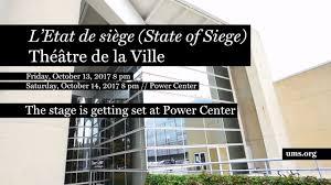 etat de siege the stage is getting set for l etat de siège state of siege