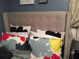 skyline furniture racine nail button tufted wingback bed velvet