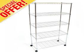 Shelves With Wheels by Metal Kitchen Shelving Units Metal Display Racks Wall Metal