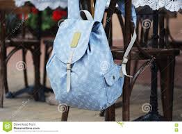 Back Pack Chair Backpack On The Chair Of Cafe Stock Photo Image 70668680