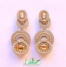 soutache earrings one of a original swarovski soutache earrings by