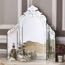 Mirrored Glass Vanity Two U0027s Company Venetian Style Dressing Table Mirror Dressing
