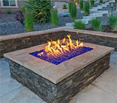Rectangle Fire Pit - amazon com teal lagoon crushed fire glass 1 2