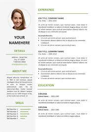 contemporary resume fonts styles cv template nicetobeatyou tk