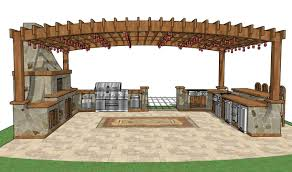 how to make your own kitchen island pergola outdoor kitchen plans
