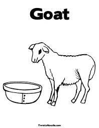 goat mask coloring page best photos of boer goat coloring pages printable goat clip art