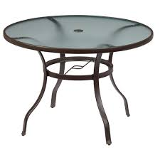 42 Patio Table Hampton Bay Mix And Match Round Metal Outdoor Dining Table