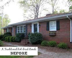 giving a basic brick ranch curb appeal and more painted houses