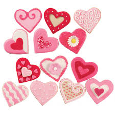 variety of valentine u0027s day cookies wilton