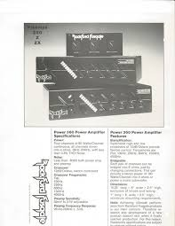 old stereo a rare 1982 rockford fosgate amplifier punch