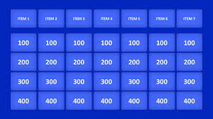 Jeopardy Game Powerpoint Templates Jepordy Template