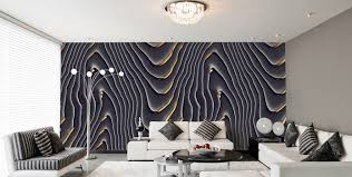 Wohnzimmer Schwarz Weis Grun Tapetendesign Eleganz