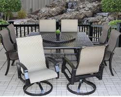 9pc dining room set heritage outdoor living cast aluminum barbados sling outdoor patio