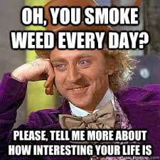 Smoke Weed Everyday Meme - oh you smoke weed every day please tell me more about how