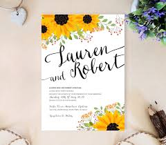 rustic wedding invitations cheap sunflower wedding invitation lemonwedding