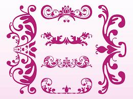 floral ornaments designs vector graphics freevector