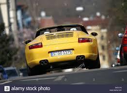 Porsche 911 Yellow - car porsche 911 carrera s convertible model year 2005 yellow