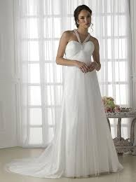 Pregnancy Wedding Dresses Informal Halter Neck Pleated Bodice Maternity Wedding Dress On