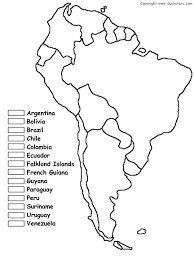A Map Of South America A Blank Map Of South America Within Jpg